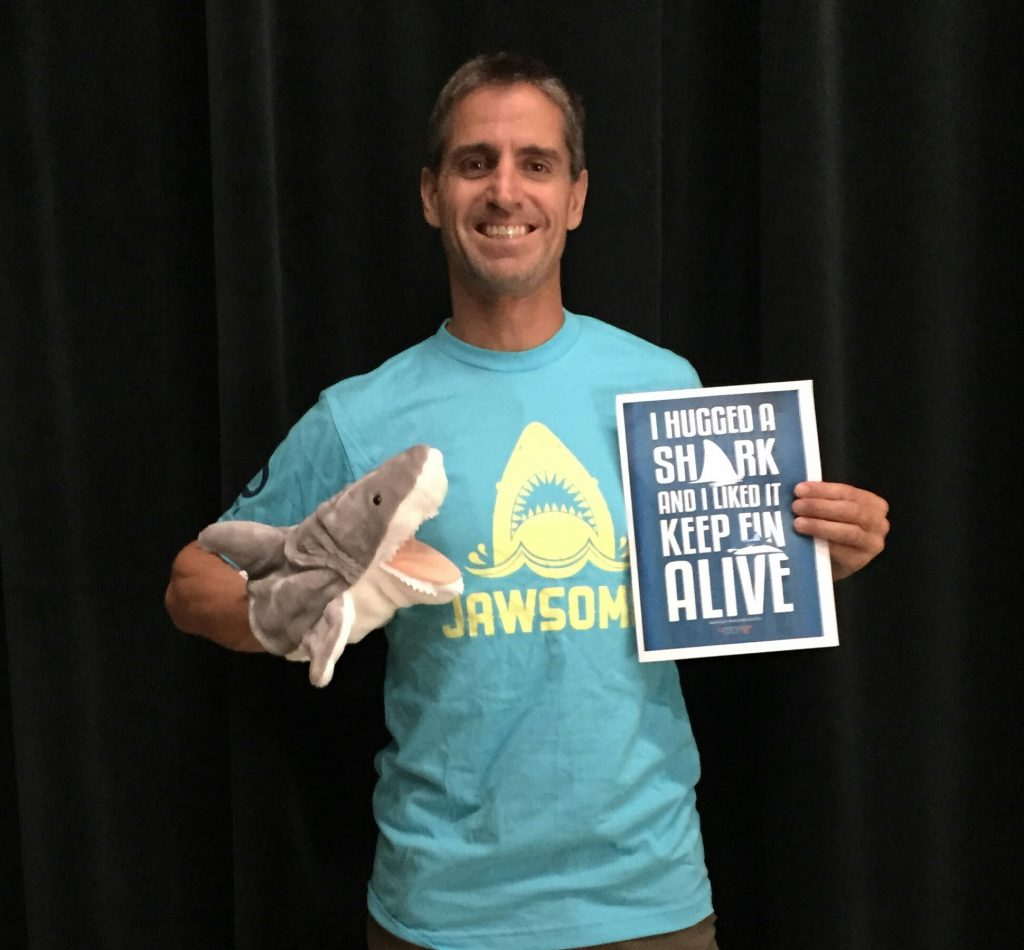 Emmy winner Shawn Heinrichs with Fin
