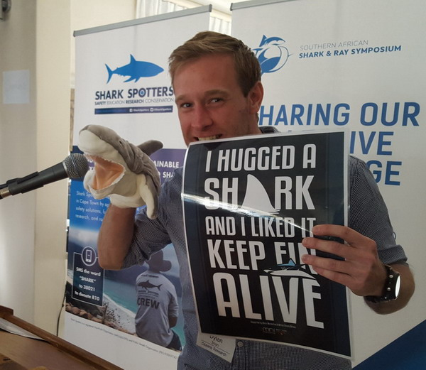 Dylan Irion supporting the Keep Fin Alive Campaign