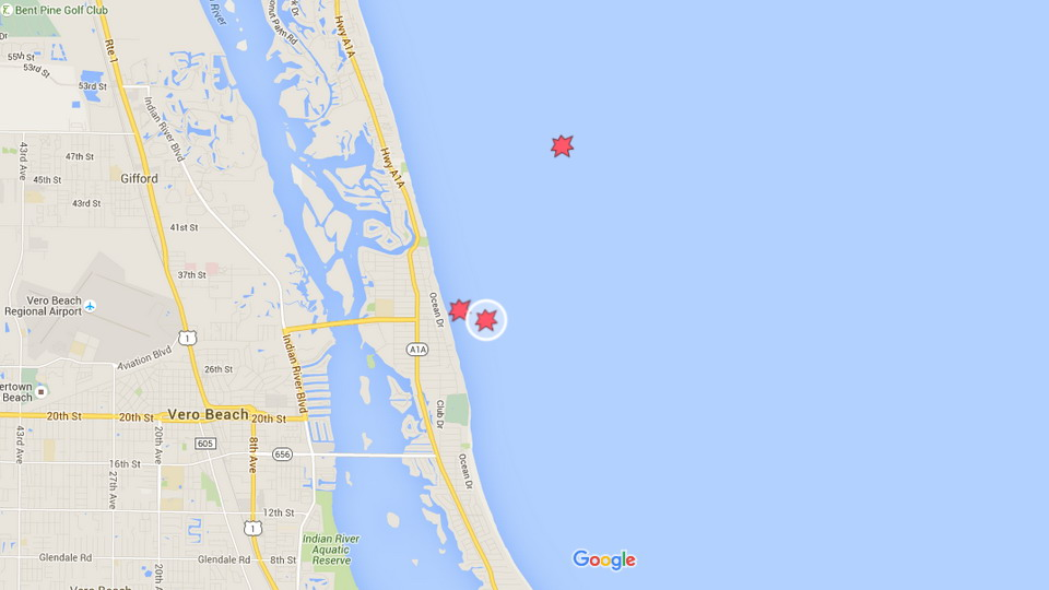 Women Bitten By Shark At Vero Beach Florida Tracking Sharks - Vero beach florida map