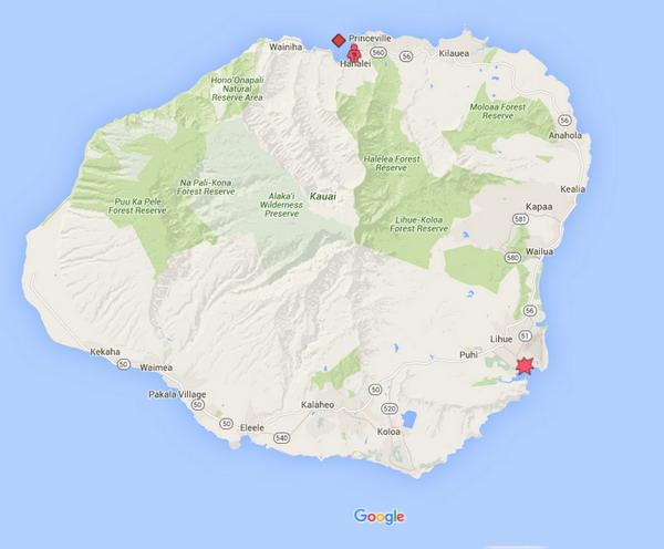 Hawaii_Kalapaki_beach_shark_attack_bite_2016_map