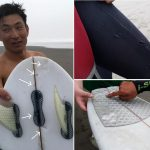 Surfboard, not surfer, suffers Great White Shark bite in California