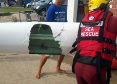 Great white shark attack surf ski ben swart