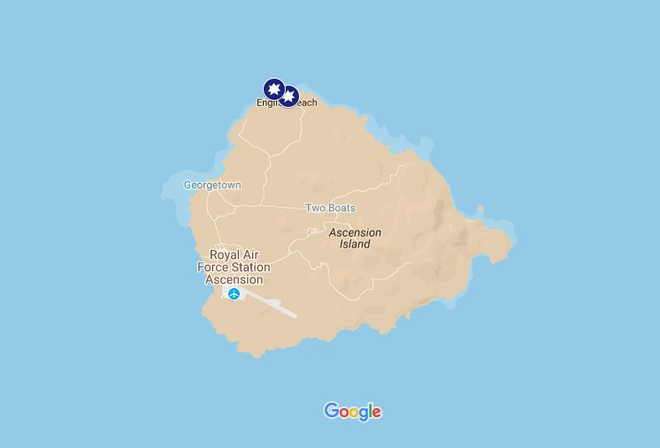 Man Bitten By A Shark Off Ascension Island Tracking Sharks - Ascension island google map