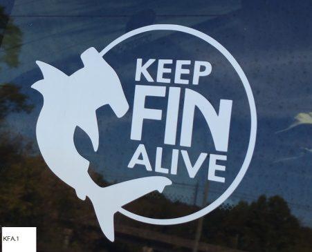 Keep Fin Alive window decal