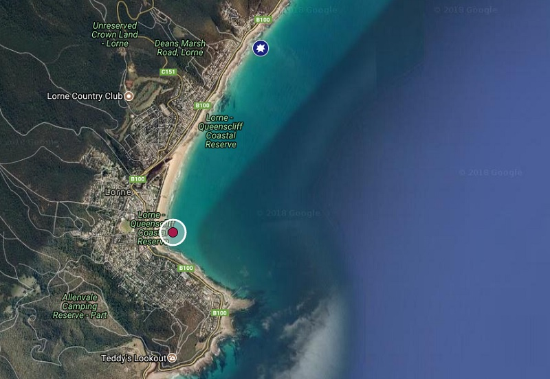 2018-shark_attack_bite_Robert Frostland was at Lorne Beach, Victoria, Australia March 2