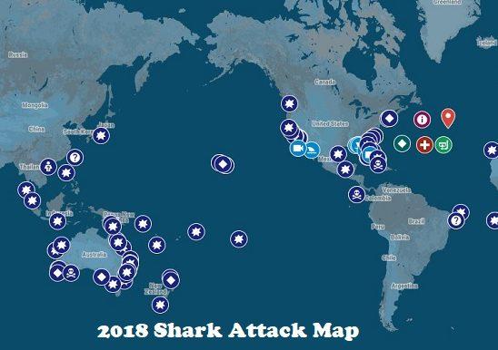 2018 Shark Attack Map • Tracking Sharks