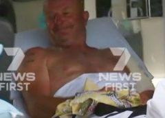 Queensland fisherman was bitten by a shark