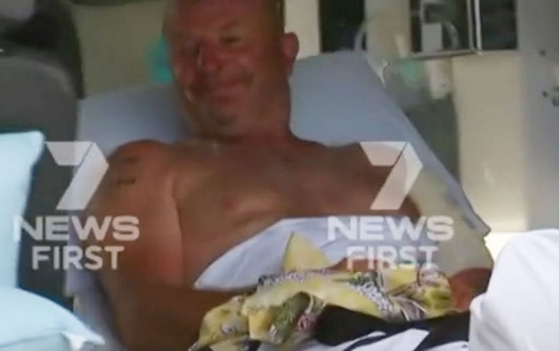 Queensland fisherman was bitten by a shark