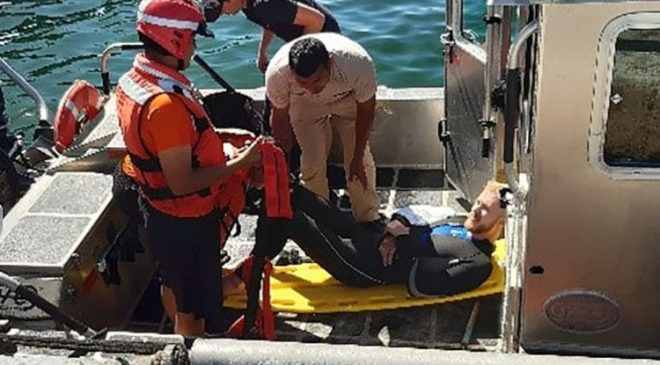 American diver bitten by shark in Mexico