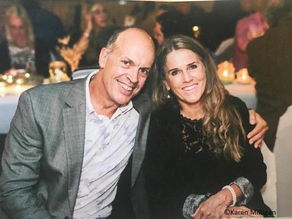 Gary Johnson and his partner Karen Milligan. Johnson was killed in a shark attack in Western Australia.